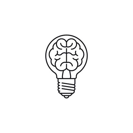 Innovation concept vector outline icon isolated on white Ilustracja