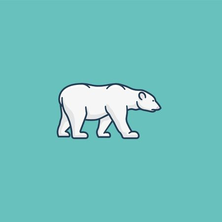 Polar bear vector illustration for Polar bear  Day on February 27. Endangered species color symbol. Ilustrace