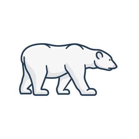 Polar bear isolated vector illustration for Polar bear  Day on February 27. Endangered species color symbol. Ilustrace
