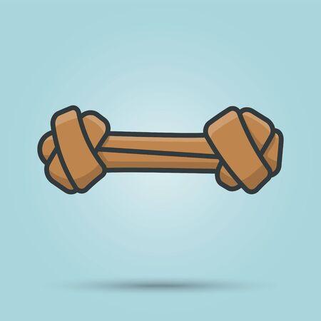 Dog chewing bone vector illustration. Vektorové ilustrace