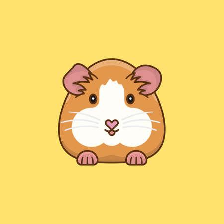 Guinea Pig cartoon vector illustration for Guinea Pig Appreciation Day on July 16.
