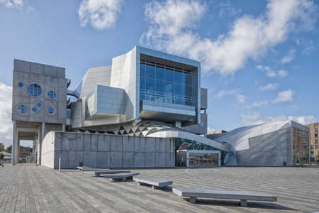 Aalborg, Denmark - September 4, 2020: Musikkens Hus, multifunctional venue with concert halls and rehearsal rooms by Austrian architects Coop Himmelb (l) au Redakční