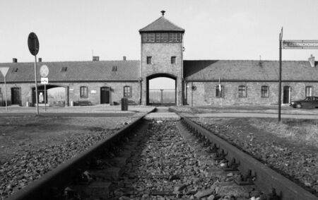 nazism: entrance auschwitz