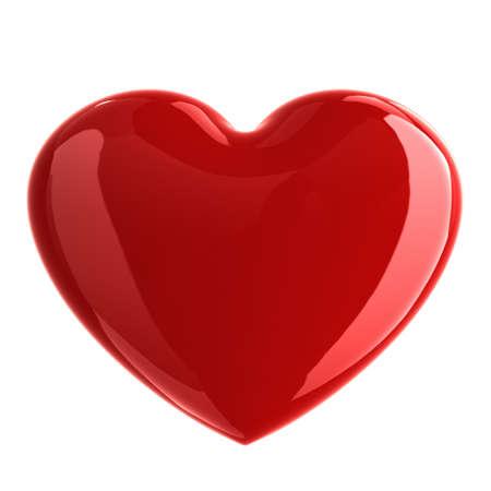 Shiny heart shape isolated on white