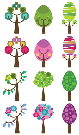 Set of colorful trees