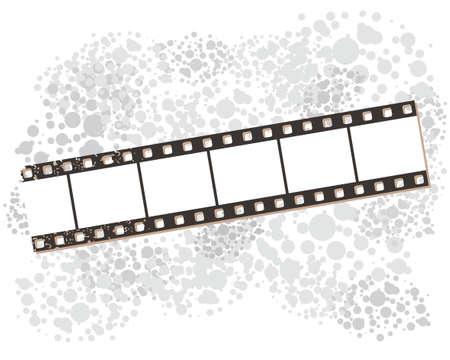Film strip banners, vector illustration