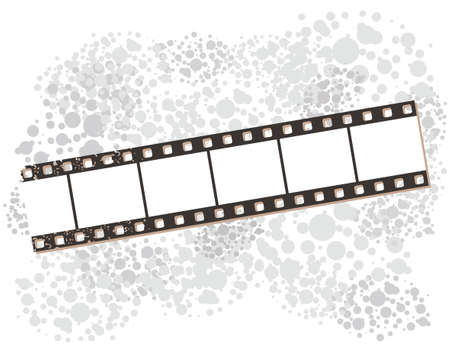 Film strip banners, vector illustration