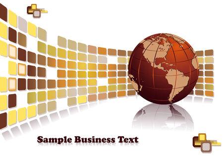 multinational: Modern business design for global development companies Illustration