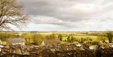 hill of tara: View of the green fields of Ireland from historic Tara Hill.