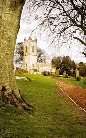 hill of tara: Old Saint Patrick church on sacred land of Teamhair na Ri (Hill of the Kings) on the river Boyne valley in Ireland.