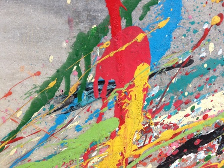 grunge: Paint splashes on the wall