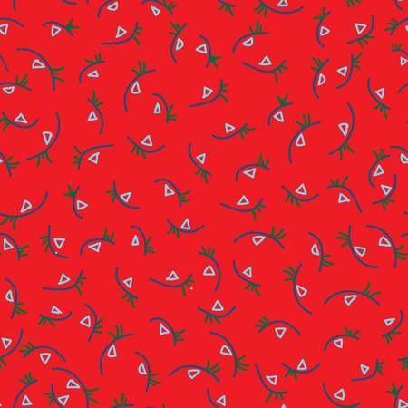 Colorful Hand-drawn Abstract Seamless Background Pattern.