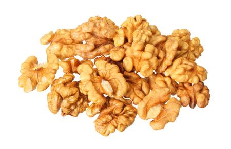 walnoten geïsoleerd op een witte achtergrond