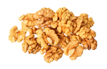 walnuts isolated on white background 免版税图像