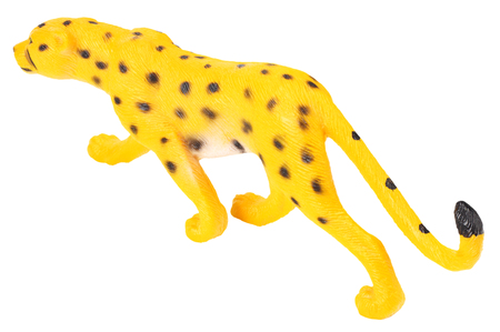 toy jaguar isolated on a white background Banco de Imagens