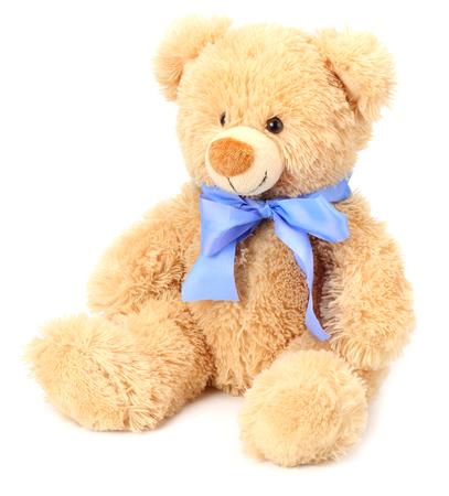 Ours en peluche jouet isolé sur fond blanc