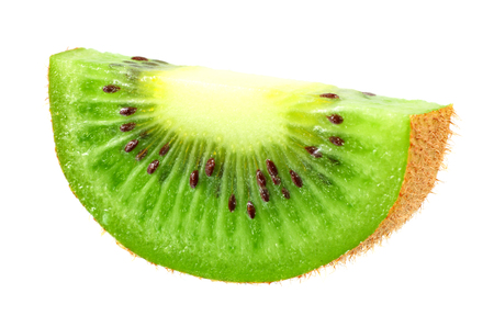 Slices kiwi fruit isolated on white background
