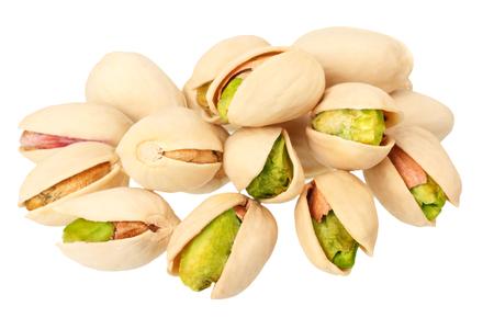 pistache geïsoleerd op een witte achtergrond. Eten
