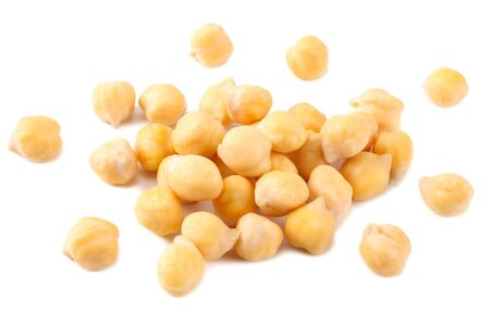 chickpeas isolated on a white background.