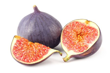 Figs with cut slice isolated on white background 写真素材