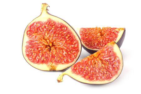 slice of fig isolated on white background