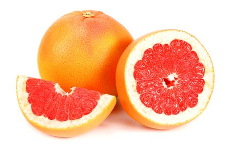 healthy food. grapefruit with slices isolated on white background Reklamní fotografie