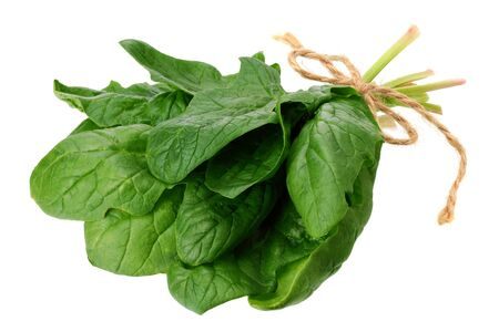spinach leaves isolate on white background. Healthy food.