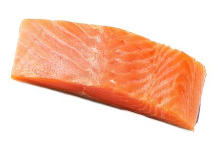 Red fish. Raw salmon fillet isolate on white background Reklamní fotografie