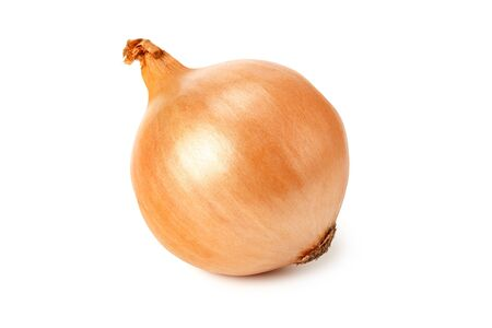 Napiform onion isolated on a white background