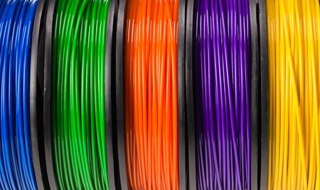 fond ou texture de l'imprimante 3d filament. Contexte