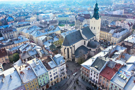 Lviv city from above Stock Photo