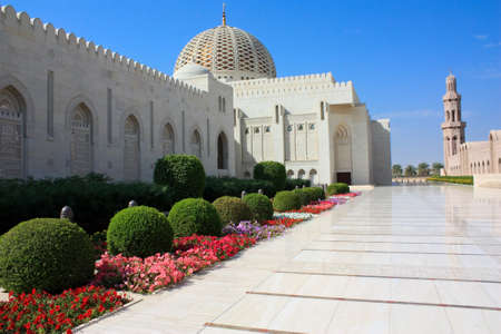 The Sultan Qaboos Grand Mosque in Muscat, Oman