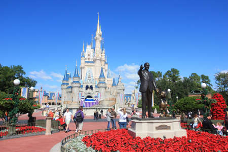 disney: Magic Kingdom castle in Disney World in Orlando Editorial