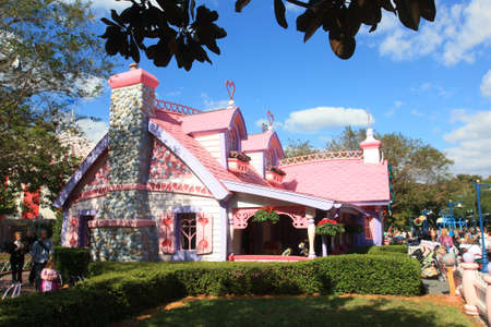 minnie mouse: Minnie Mouse house in Magic Kingdom Disney World in Orlando
