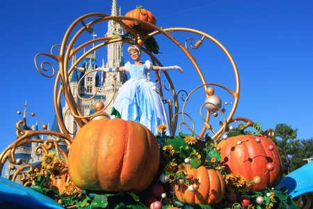 cinderella: Cinderella on magic Kingdom parade in Disney World, Orlando Editorial