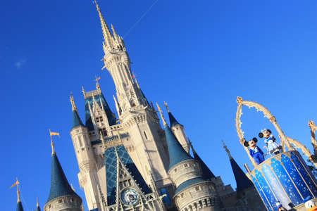 orlando: Magic Kingdom castle in Disney World in Orlando Editorial