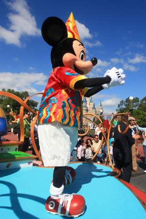 Magic Kingdom in Disney World in Orlando and Mickey Mouse