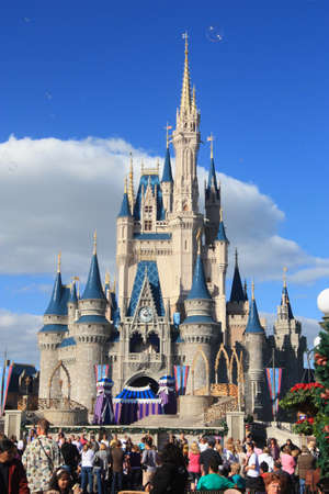 Magic Kingdom castle in Disney World in Orlando