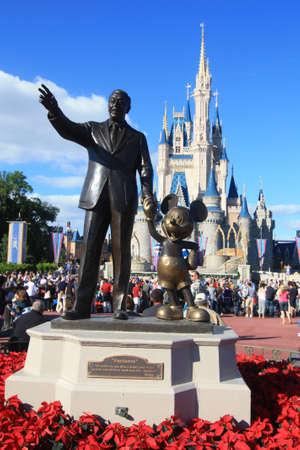 Magic Kingdom castle in Disney World in Orlando Editorial