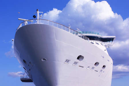 ship bow: bow of a huge cruise ship