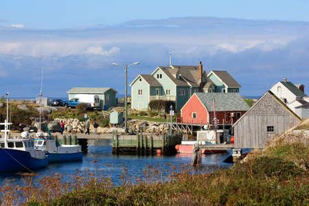 Peggy s cove fishing village in Nova Scotia, Canada Stock Photo