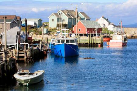 Peggy s cove fishing village in Nova Scotia, Canada Editorial