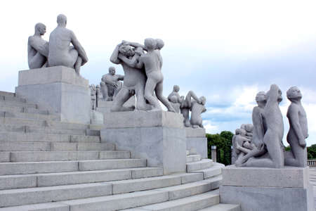 Frogner Park in Oslo with sculptures by Vigeland