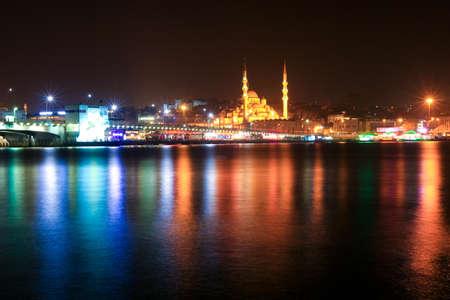 strait: night istanbul, golden strait and mosque