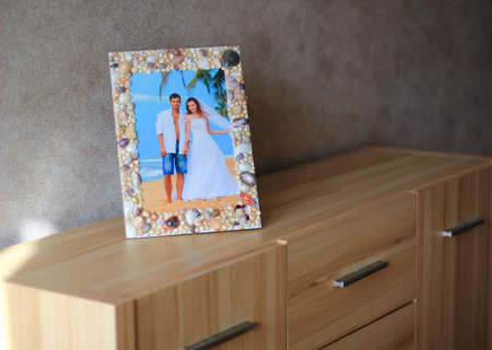 drawers: photo frame on chest of drawers