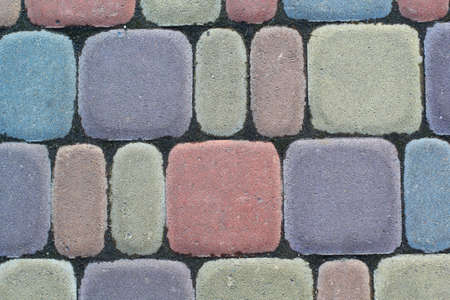 colorful bricks for flooring Stock Photo
