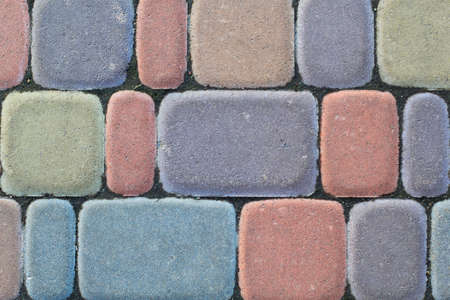 colorful bricks for background Stock Photo
