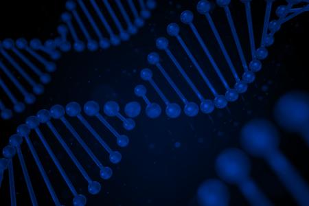 cytosine: DNA strand on black background, DNA, 3D illustration