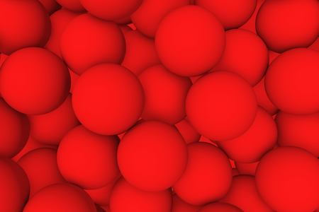 mate: 3d render wall of red mate balls set background