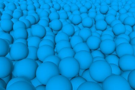 mate: 3d render wall of light blue mate balls set background